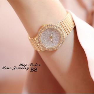 Đồng hồ nữ BS BEE SISTER BS152 mặt tròn nhỏ đính đá sang trọng thumbnail