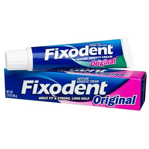 Keo dán răng giả Fixodent