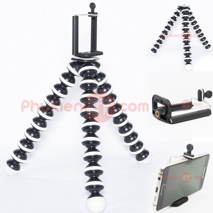 Bộ chân máy ảnh bạch tuộc lớn và Khung kẹp gắn điện thoại lên chân máy ảnh - PHUKIEN2T_Q00158
