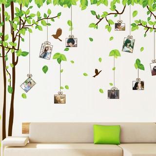 [ Kèm ảnh thật ] Decal dán tường Cây khung ảnh-Cây xanh trang trí nhà cửa