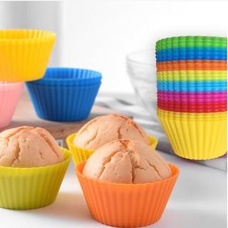 Khuôn Cupcake Silicon tròn 7cm, Khuôn Làm Bánh Bông Lan Cupcake, Muffin, Thạch, Rau Câu Goodbabyvn thumbnail