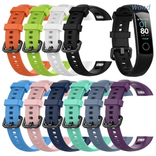 Wond Silicone Wrist Strap Watch Band For Huawei Honor Band 4 Standard Version Smart Watch