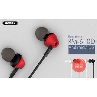 [Mã ELFLASH5 giảm 20K đơn 50K] Tai nghe Remax RM-610D có mic đàm thoại (tặng bộ nút tai nghe thay thế)