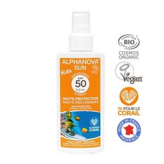 Kem chống nắng trẻ em hữu cơ dạng xịt SPF50 Alphanova 125g thumbnail