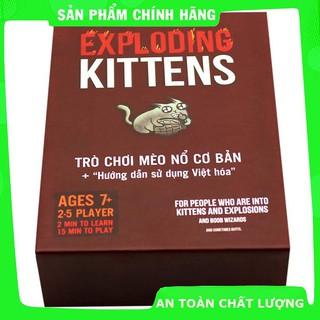 Combo Bài Mèo Nổ Exploding Kittens + Bọc Bài (100 Bọc)_Chính hãng