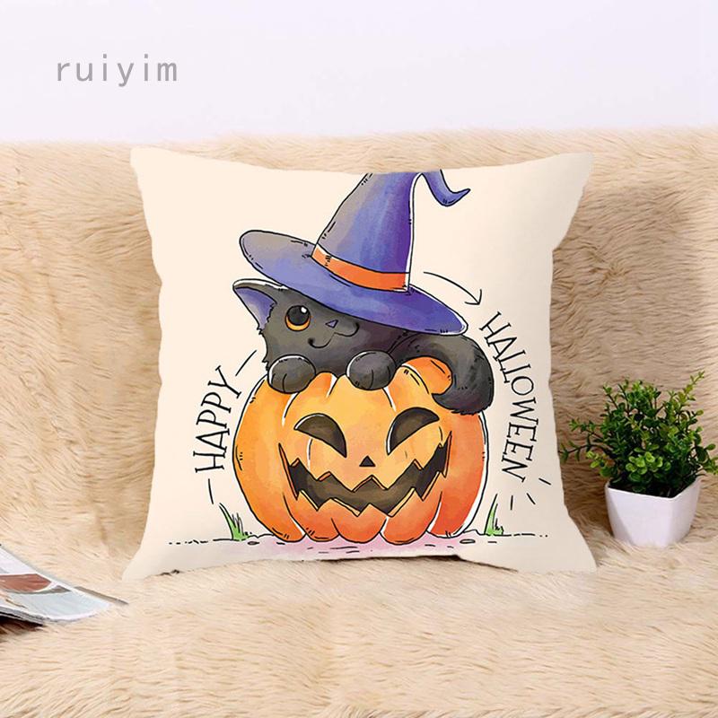 Vỏ Áo Gối Sofa Trang Trí Phong Cách Halloween