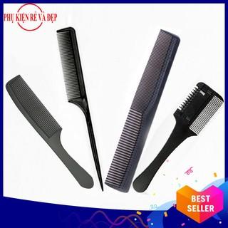 [Freeship] Combo 4 lược làm tóc - Gồm Lược tỉa tóc + 3 lược cắt tóc và chia tóc thumbnail