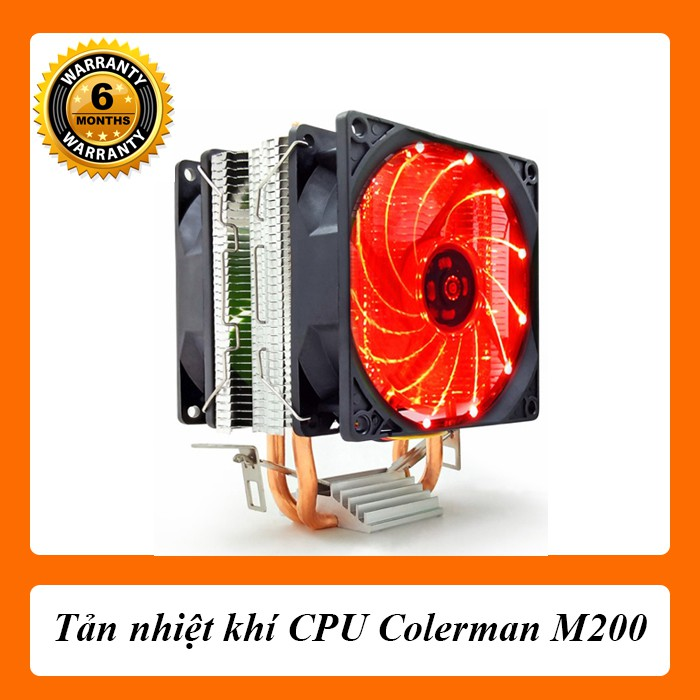 [Nhập ELCLMAY hoàn 30K xu đơn từ 200K]Tản Tháp CPU Colerman M200 – Màu Đỏ Giá chỉ 200.000₫
