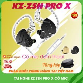 Tai nghe kz zsn pro x,có mic và tặng hộp,phiên bản nâng cấp mới nhất 2020 thumbnail