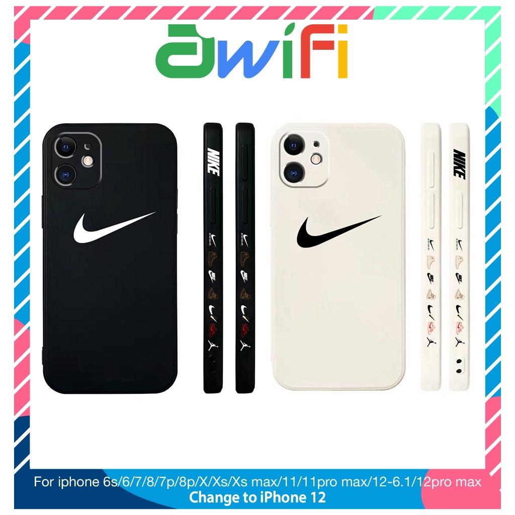 Ốp lưng iphone vuông cạnh hình ni.k.e 6/6plus/6s/6splus/7/7plus/8/8plus/x/xr/xs/11/12/pro/max/plus/promax - Awifi