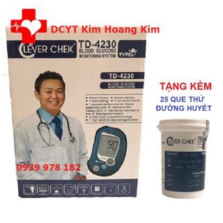Máy đo đường huyết Clever Check TD 4230 tặng kèm 25 que thử tiểu đường và 25 kim lấy máu thumbnail