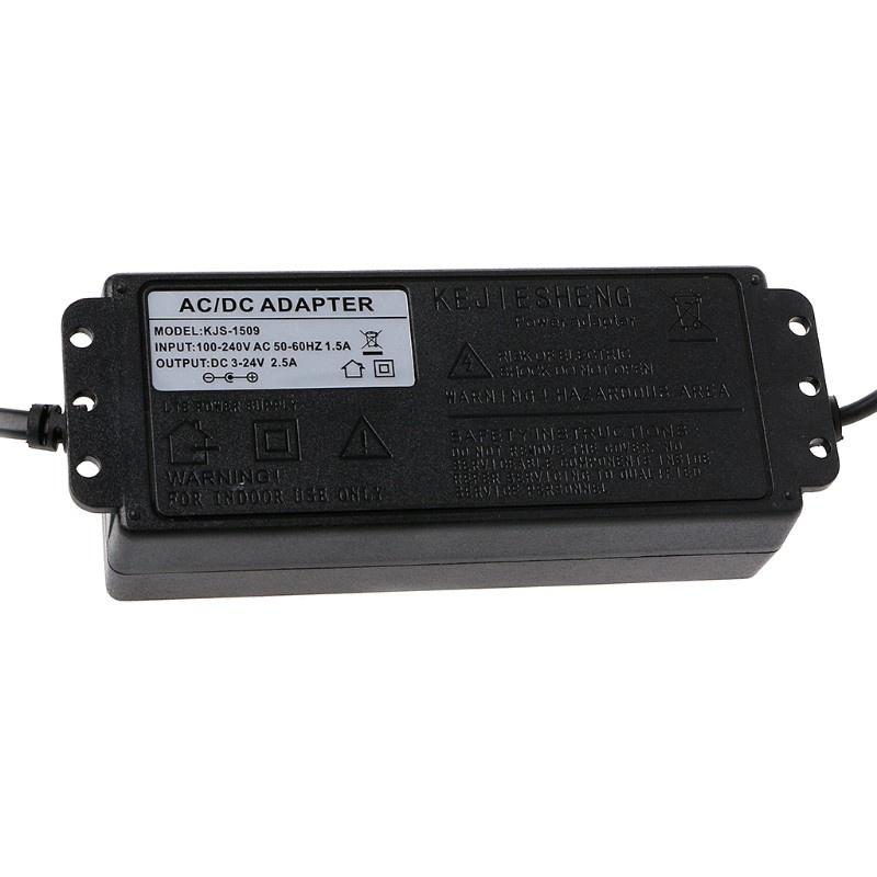 (Hàng Mới Về) Bộ Điều Chỉnh Điện Áp Dc5.5X2.1 / 2.5mm Vivi 60w 3-24v