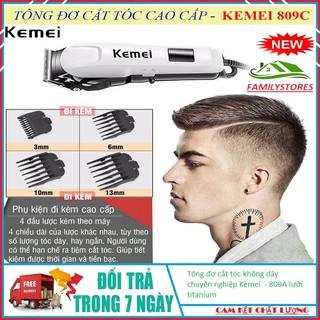 Tông đơ cắt tóc không dây chuyên nghiệp Kemei – 809A lưỡi titanium