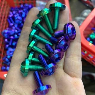 Yêu ThíchỐc titanium GR5 6li15 6li20 dù dày to gắn thông dụng nhiều loại xe cùng kích thước