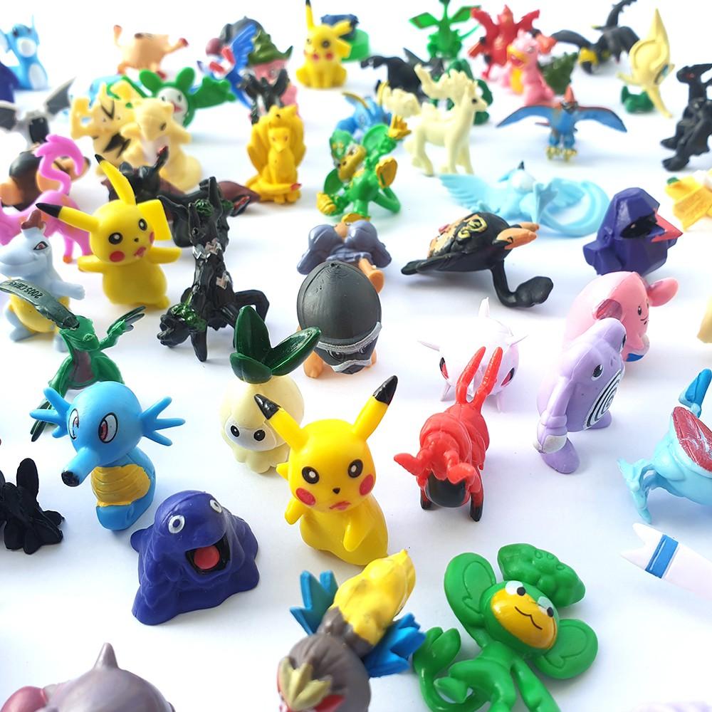 Bộ sưu tập mô hình đồ chơi Pokemon Go 72 Pcs không trùng nhau, anime chibi vui nhộn cho bé nhập vai, trang trí – New4all