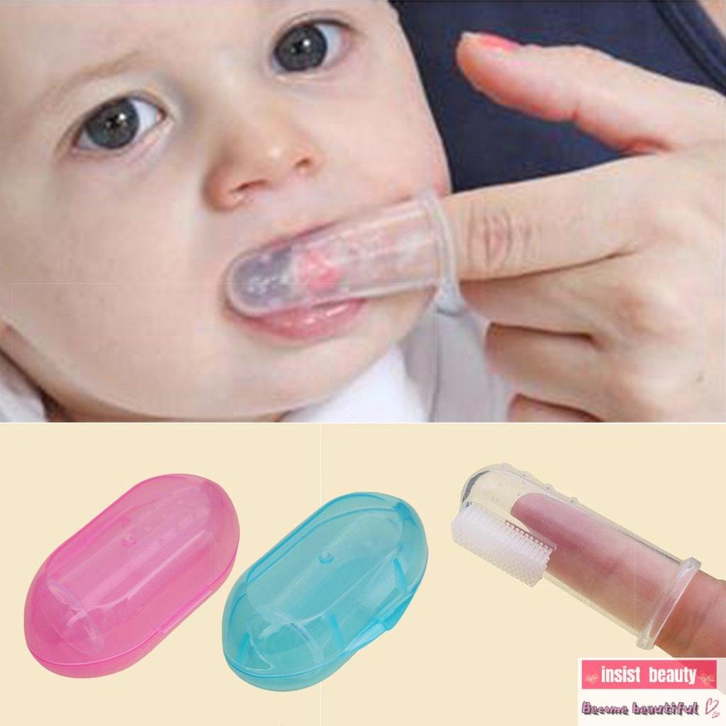 ☀6 NA 6☀ Bàn chải đánh răng đeo ngón tay bằng Silicone cho bé