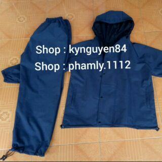 Bộ áo mưa cao cấp ( cả bộ quần áo 2 lớp vải dù chống thấm)
