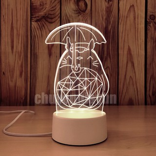 Đèn ngủ 3d TOTORO , đèn trang trí, quà tặng sinh nhật, quà tặng tình yêu