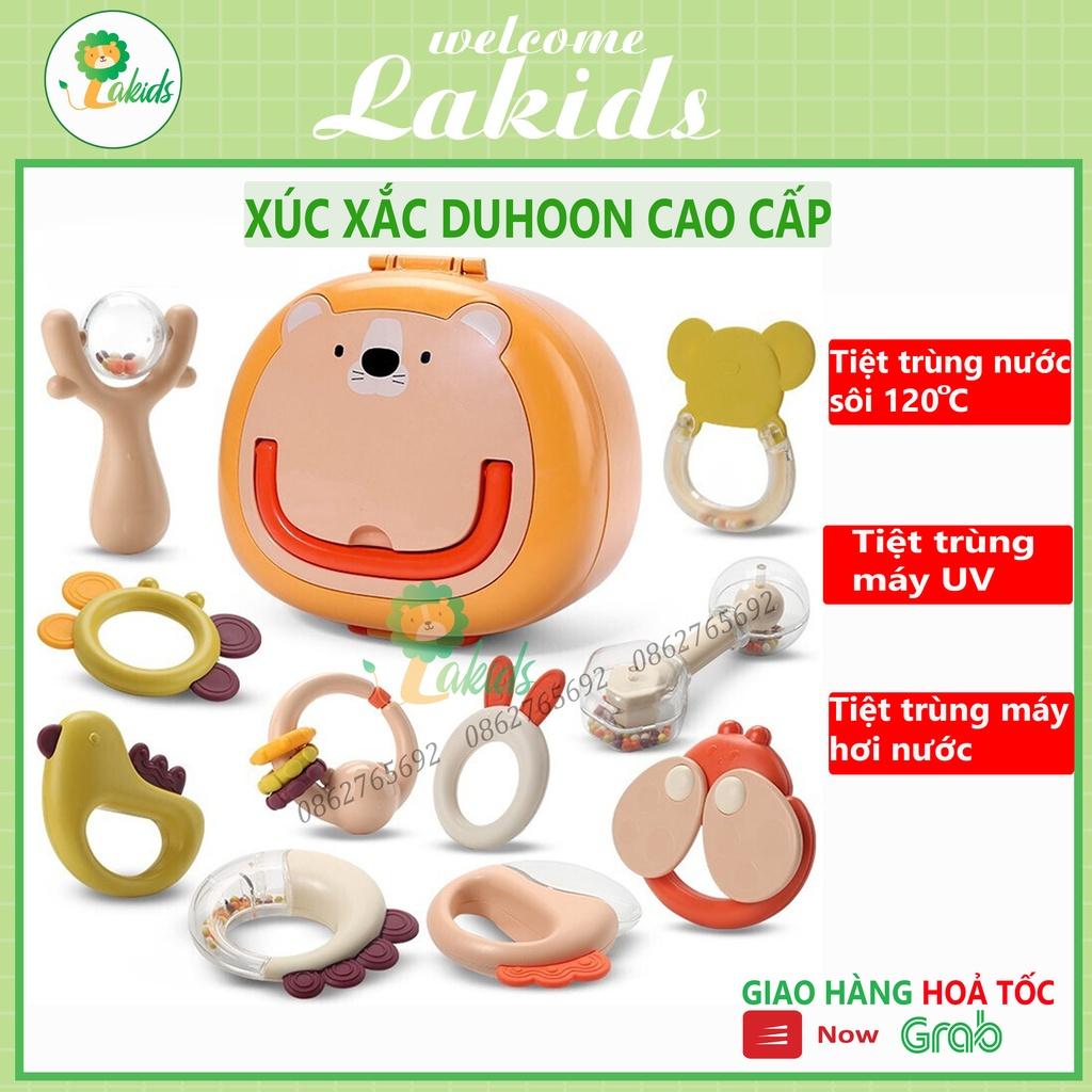 [SIÊU CAO CẤP] Xúc xắc cho bé, gặm nướu cho bé gồm 10 chi tiết loại siêu cao cấp (có hộp đựng) Lakids