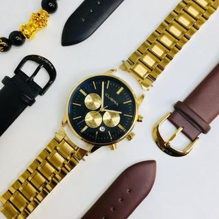Đồng hồ nam CUENA FREE SHIP Doanh FULLBOX + tặng kèm cặp DÂY DA +VÒNG TAY PHONG THỦY (CONG_WATCH) thumbnail