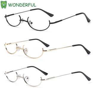 WONDERFUL Unisex Decoration Eyewear Myopia Half Frames Glasses Frame Cosplay Party Fashion Metal No Lens Photography Eyeglasses/Multicolor