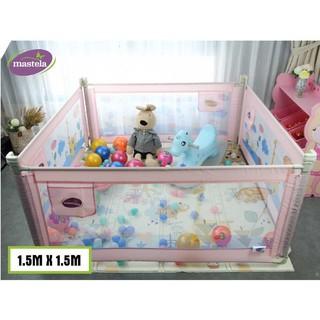 Combo 4 thanh chắn giường Mastela có thể sử dụng làm quây bóng cho bé kích thước 150x150cm - nâng hạ độ cao thumbnail