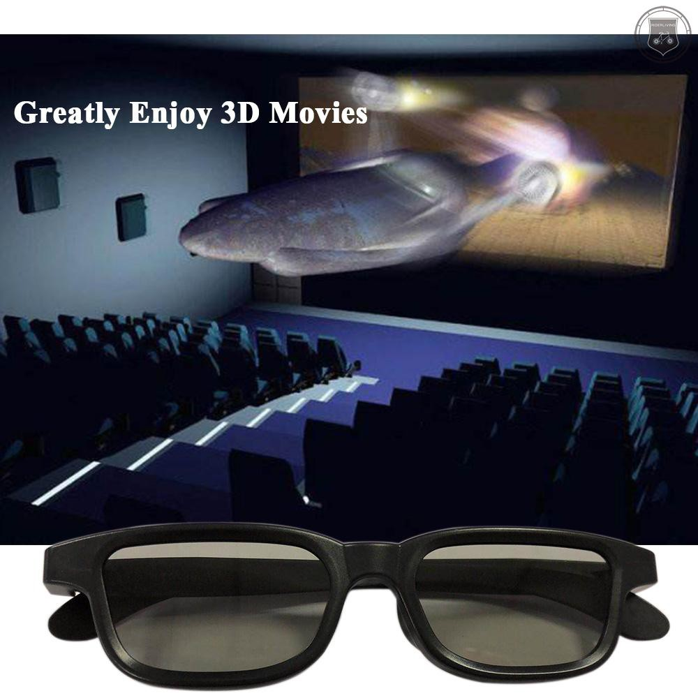 R&L G90 Passive 3D Glasses Polarized Lenses for Cinema Lightweight Portable for Watching Movies