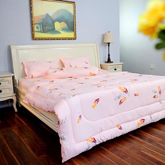 Bộ Drap mền cotton đũi Rosa