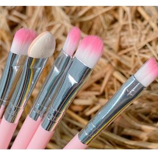 Bộ Cọ Hồng 5 Cây Mini Cơ bản tiện lợi trang điểm lâu trôi Brusher makeup chính hãng nội địa sỉ Kang