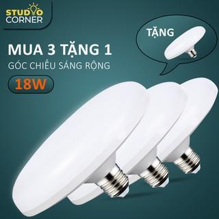 Bóng đèn led tròn UFO ánh sáng trắng, tiết kiệm điện công suất cao 18W-24W-36W-50W, đuôi vít xoắn E27-DDB