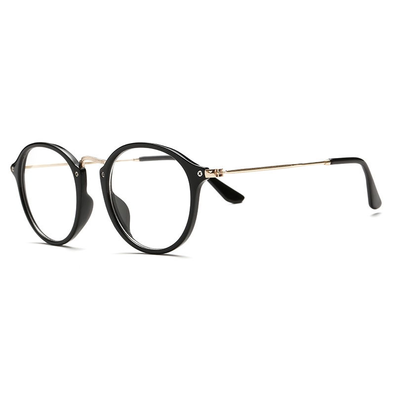 Iron Man Glasses Thread Frame Trend Retro Metal Flat Lens Matched Myopia Glasses