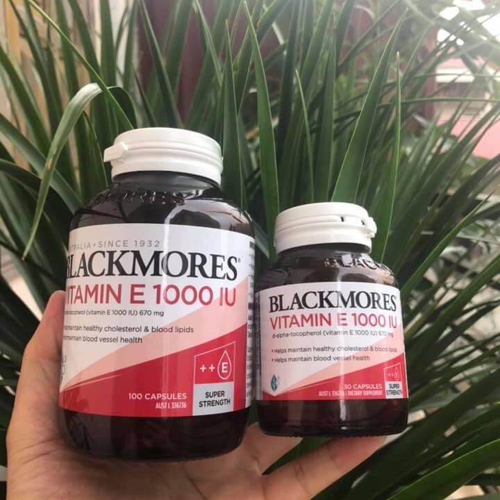 Vitamin E Blackmores ÚC 1000IU, lọ 30 viên cao cấp