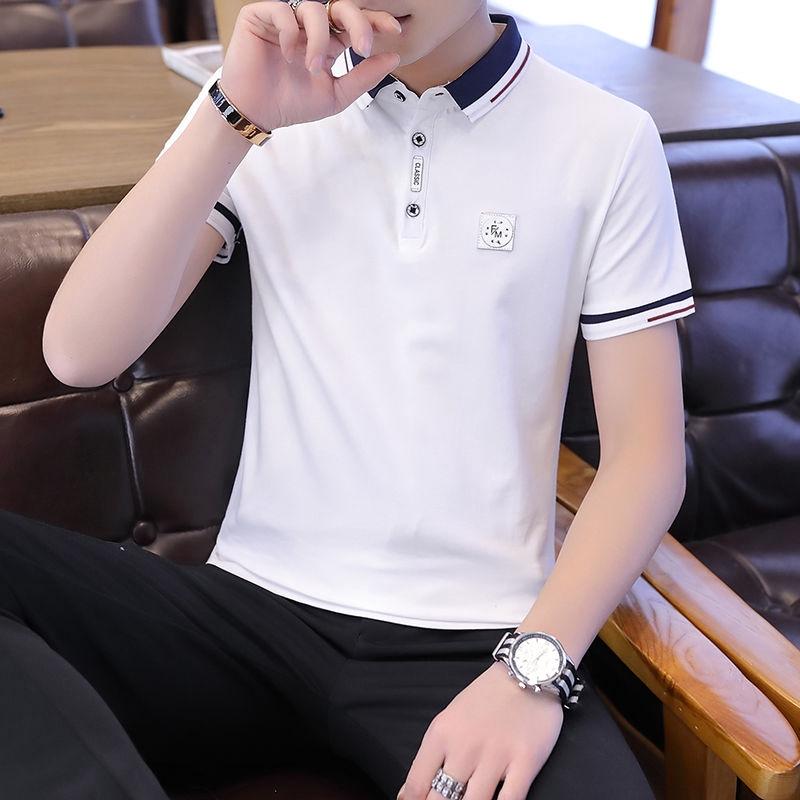 Áo thun polo tay lỡ phong cách Hàn Quốc trẻ trung dành cho nam