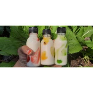 Sữa chua uống vị trái cây. Sữa chua nhà làm. 125ml