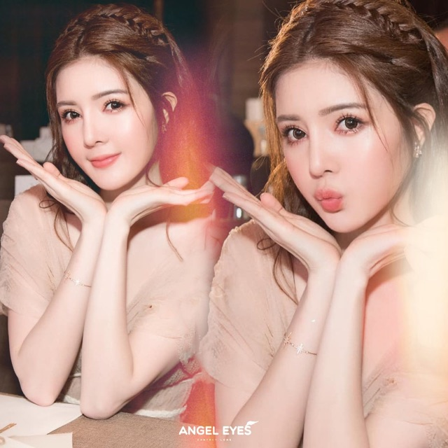 Lens Angel Eyes - Opal Brown - Lens Silicone 24 tiếng