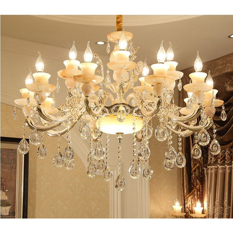 Đèn chùm - đèn trang trí DEMAXIA kiểu dáng sang trọng kèm bóng led nến chuyên dụng (có ảnh chụp thât 100%)