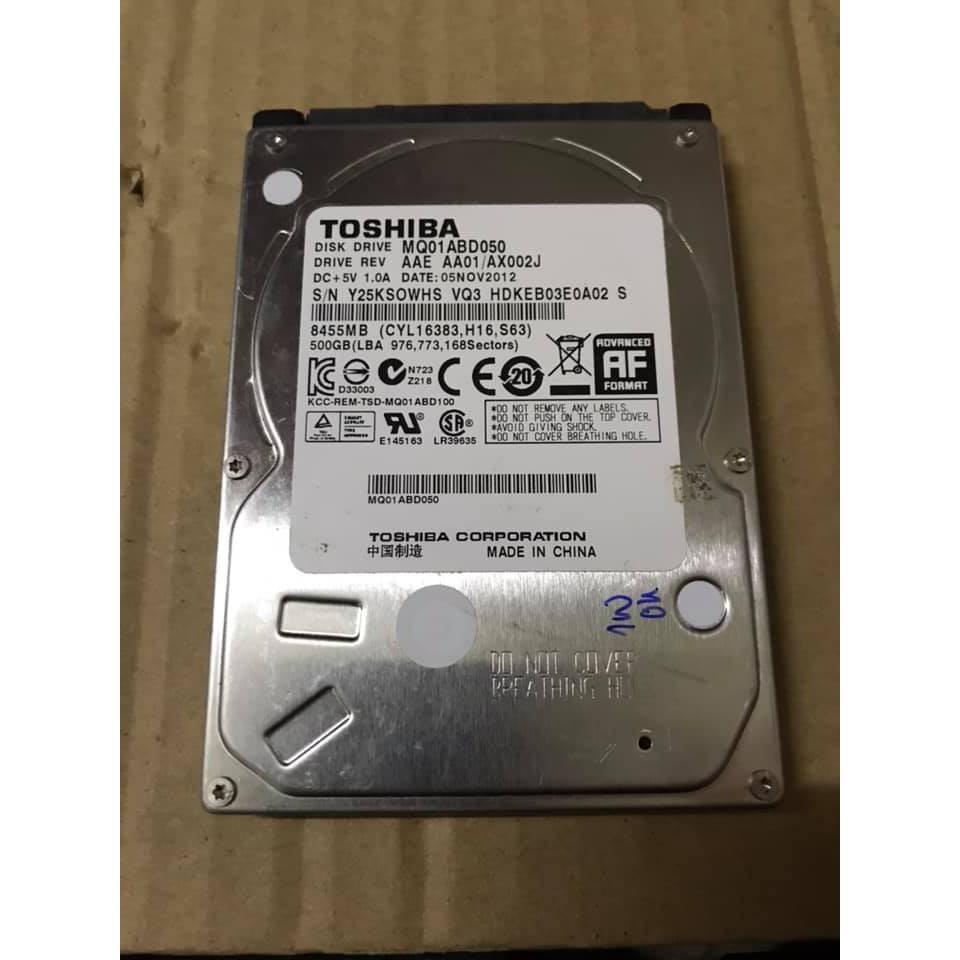 Ổ Cứng HDD Laptop Toshiba 500GB Cũ BH 06 Tháng 1 Đổi 1