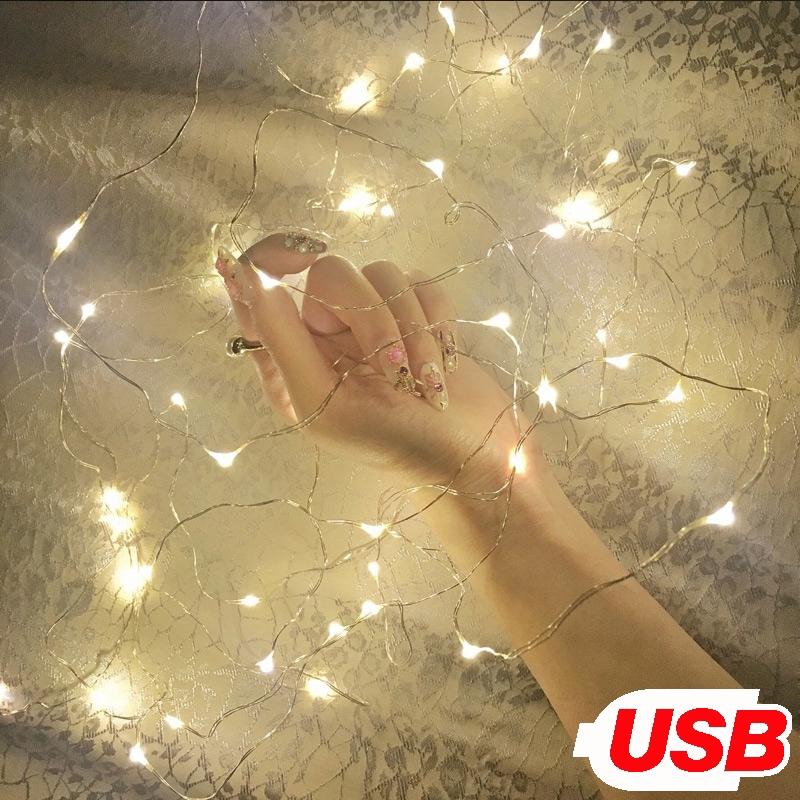 Đèn LED dây đồng dùng trang trí tiệc Giáng Sinh