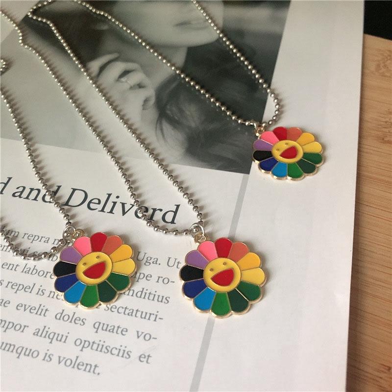 [Mã FASHIONCB278 hoàn 15K xu đơn 50K] Dây chuyền hình hoa hướng dương nhiều màu thời trang cho nữ
