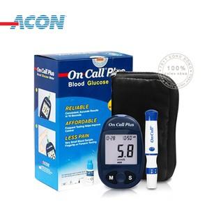 [Mã COSHOT27 giảm 10% đơn 300K] Máy Đo Đường Huyết Acon On Call Plus + Tặng hộp 25 que thử và hộp 50 kim chích máu