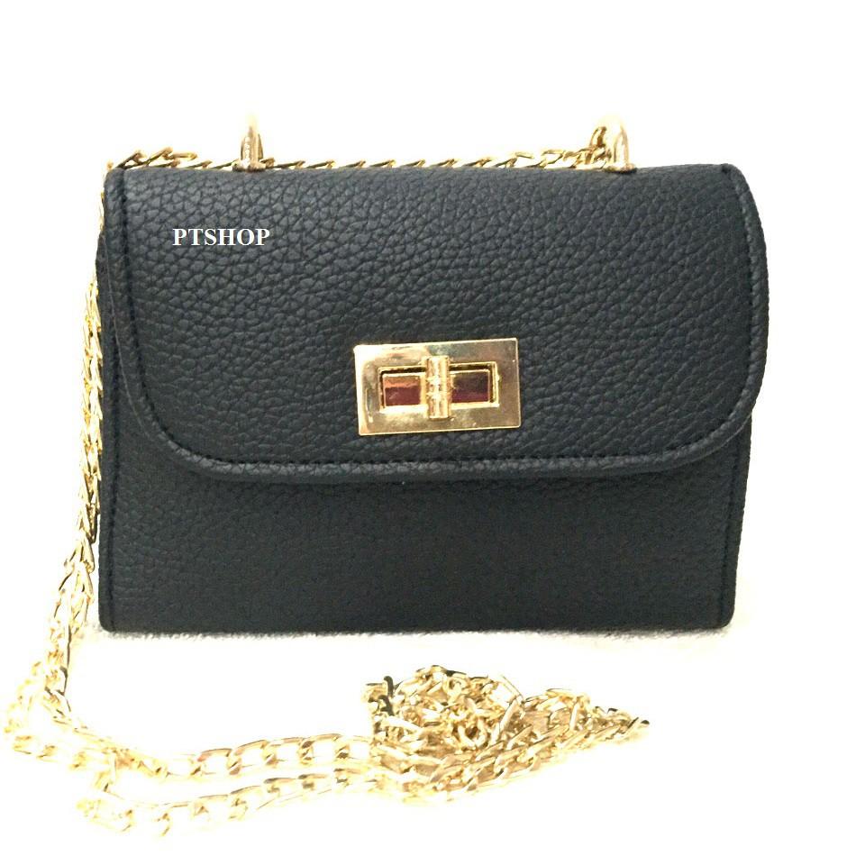 Combo 5 túi xách nữ thời trang PT18/ túi khóa xoay to