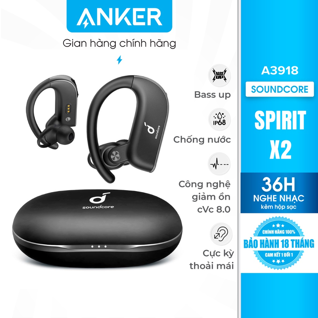 Tai nghe bluetooth 5.0 TWS SOUNDCORE (by ANKER) Spirit X2A3918