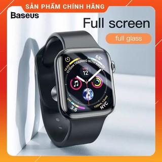 Kính cường lực Full viền 5 lớp chống trầy Baseus Full Screen Curved Tempered Glass dùng cho Apple Watch
