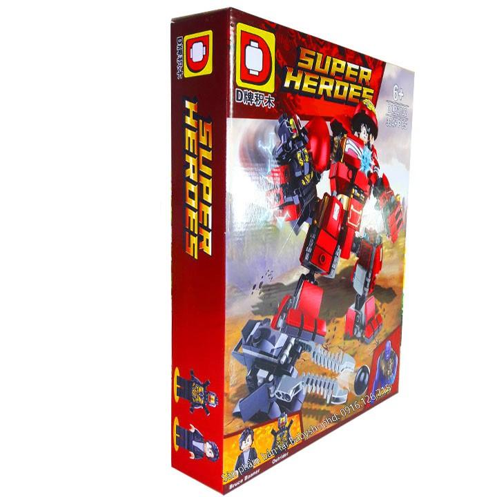 VTT anhhue - Bộ Lego Xếp Hình Người Sắt (Robot Iron Man). Gồm 334 Chi Tiết. Lego Ninjago Lắp Ráp...