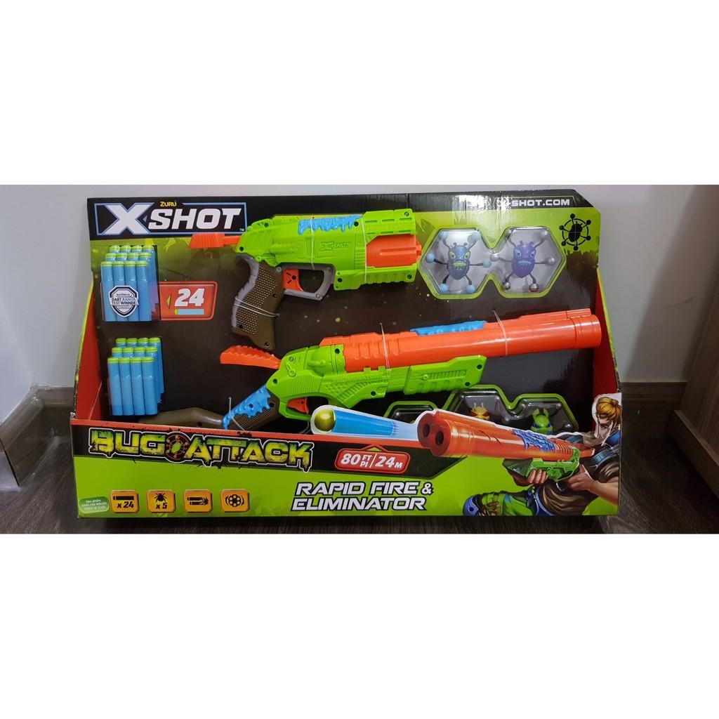 Bộ Mô hình sưu tầm Chiến binh diệt bọ X-shot (5 bọ & 12 phi tiêu)