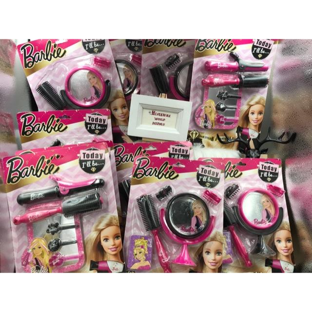 Bộ Đồ chơi trang điểm, Bộ đồ chơi làm tóc chính hãng Barbie Mattel cho bé gái. Đồ chơi bé gái chính hãng.Búp bê Barbie