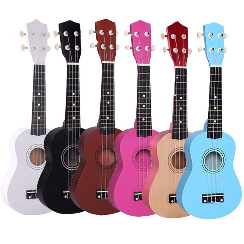 [Rẻ nhất thị trường] Đàn Ukulele Soprano 21inch màu trơn - đàn thật dùng để học nhạc