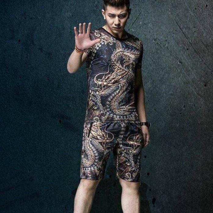 Sét quần áo nam-bộ nam hè rồng 3D siêu hót-TH chất co giãn siêu mát,hàng shop loại 1 hit hè 2019