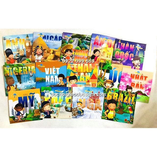 Vòng quanh thế giới - bộ 15 cuốn