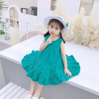 Váy tầng xoè cho bé gái, maxi đi biển cho bé